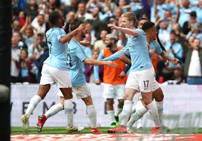 FA Cup : Manchester City et De Bruyne, buteur, s'offrent le triplé en Angleterre !