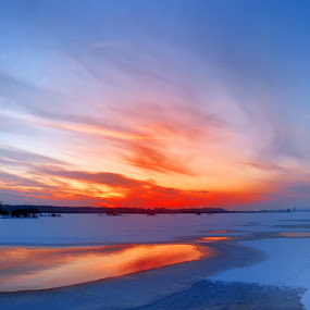 winter sunset by Victor Pavel - Landscapes Weather ( .... )