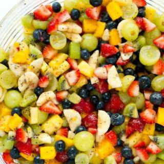 Honey Lime Fruit Salad.