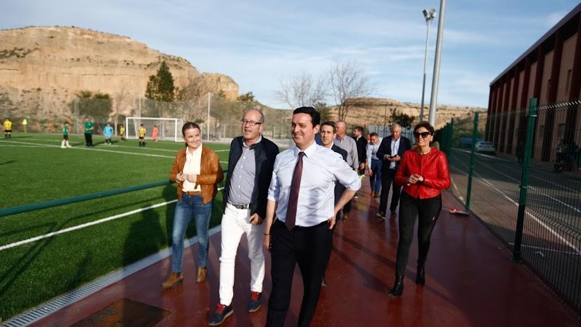 Imagen de archivo del presidente de la Diputación en una visita a Sorbas.