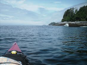 Photo: The mainland coast looking northwest across Queen Charlotte Strait.