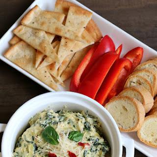 Stove-top Spinach Artichoke Dip {Gluten-free}