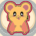 Kids hamster on the run icon