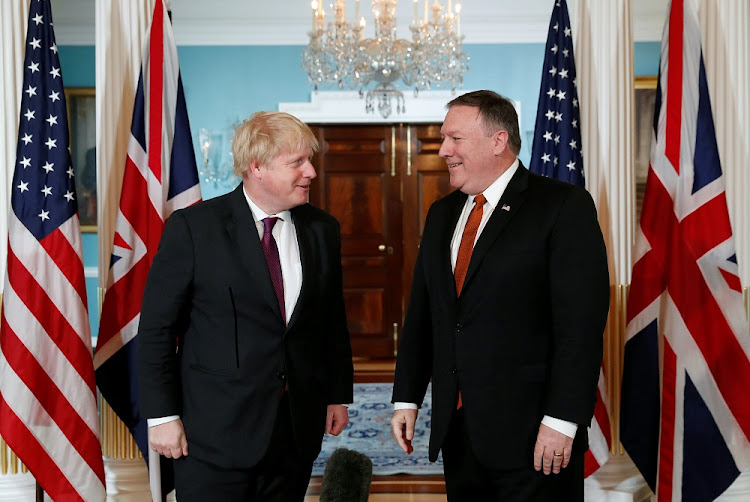 US Secretary of State Mike Pompeo meets British Foreign Secretary Boris Johnson at the State Department in Washington, the US, May 7 2018. Picture: REUTERS