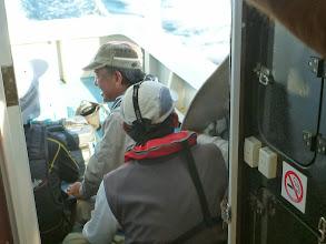 Photo: ずっとシケで流れてましたが、今回は何とか出航できそうです。 「三菱重工OB?チーム」様御一行。