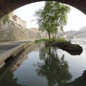 Roma y sus puentes  by Juan Tomas Alvarez Minobis - City,  Street & Park  Vistas