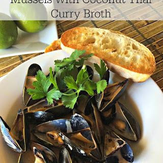 Mussels with Coconut Thai Curry Broth