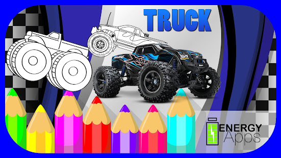 Monster Truck Coloring Book - Apps on Google Play