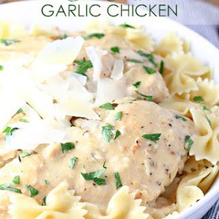 Crock Pot Creamy Garlic Chicken Recipes.