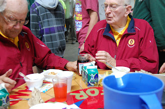 Photo: The Sages - enjoying their own special oatmeal