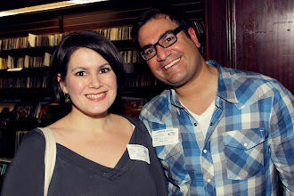 Photo: Emily and Matt Livadary  I Like Your Glasses event at Housing Works bookstore  photo by Amy Sly