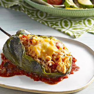 Stuffed Poblano Peppers (Chiles Rellenos).