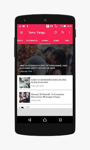 Tamu Yangu - wakubwa tU screenshot 2