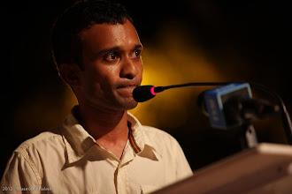 Photo: MP, Fuahmulak Constituency, Shifaq Mufeed, Speaking at MDP Rally Artificial Beach. Photo: Maapu
