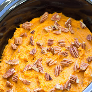 Healthy Slow Cooker Sweet Potato Casserole.