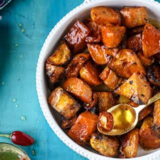 Hot Honey Caramel Sweet Potatoes.