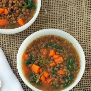 Easy Vegan Lentil Soup.