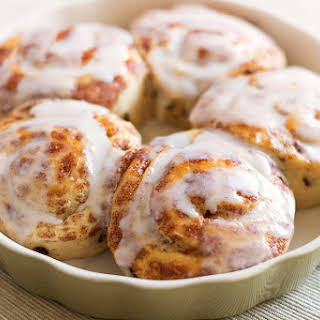 Ultimate Cinnamon Roll with Vanilla Frosting.