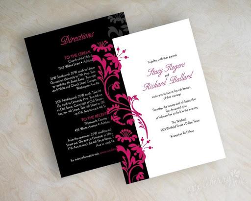結婚式のための招待状