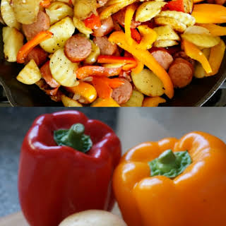 Kielbasa Potatoes and Peppers Skillet.