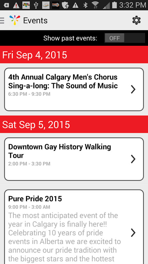 Calgary Pride- screenshot