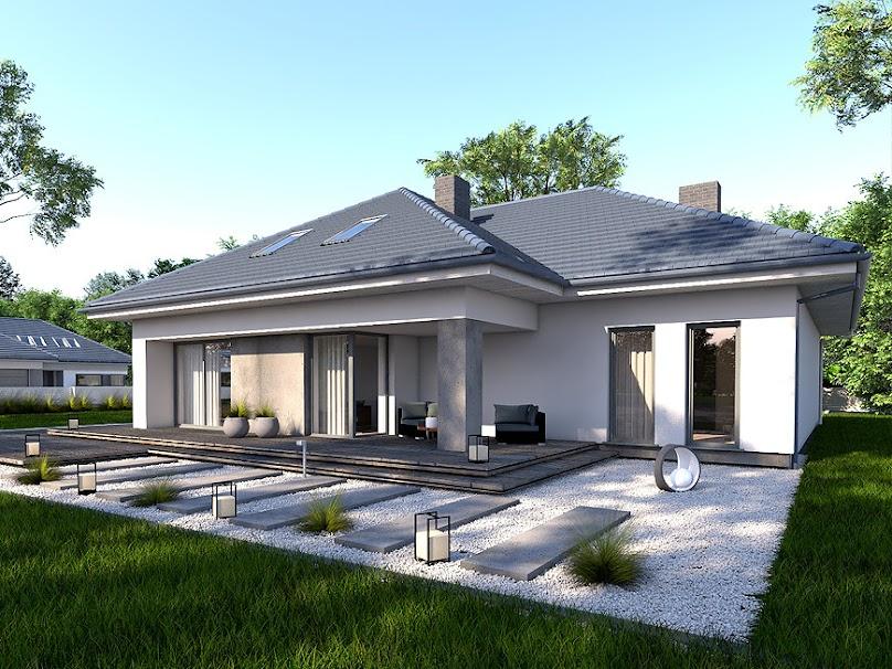 Projekt domu jednorodzinnego o nieskomplikowanej bryle