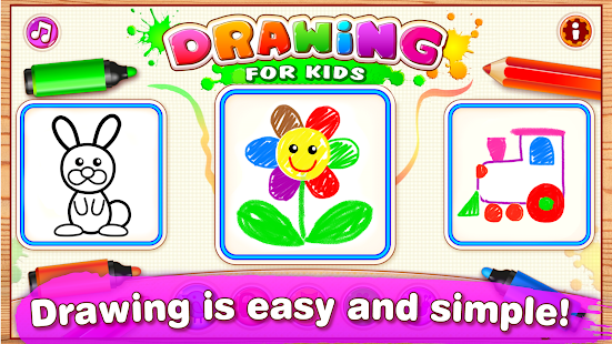 drawing for kids learning games for toddlers age 2 screenshot thumbnail - Drawing For Kids Com