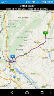 Infocar (GPS monitoring) - náhled