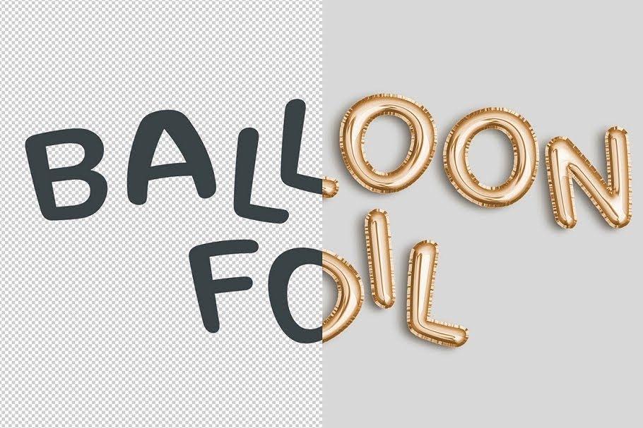 Foil Balloon Photoshop Effect 2498448 – Sourcepsd com