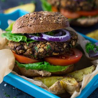 Vegan Mushroom Burger.