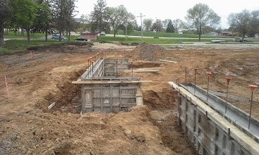 Photo: 3rd Base Dugout Foundationw/forms 05-19-2014