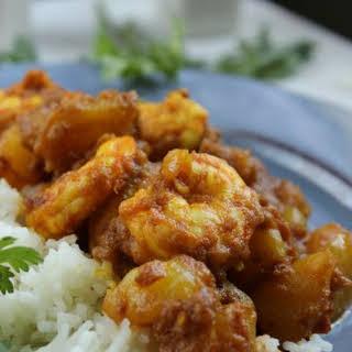 Spicy Shrimp Vindaloo.