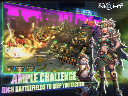 Battle Night: Cyber Squad-Idle RPG apkpoly screenshots 21