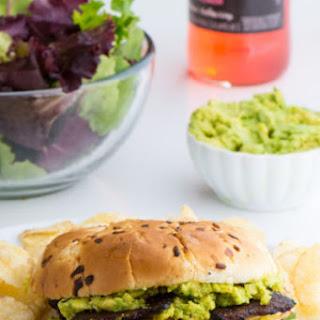 Vegan Chicken Sandwich with Avocados.