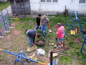 Photo: Service team members from Bakersfield, Calif. were invited by the Lutheran Church Concordia in Kyrgyzstan to install playground equipment on the premises of Vorontsovka church.