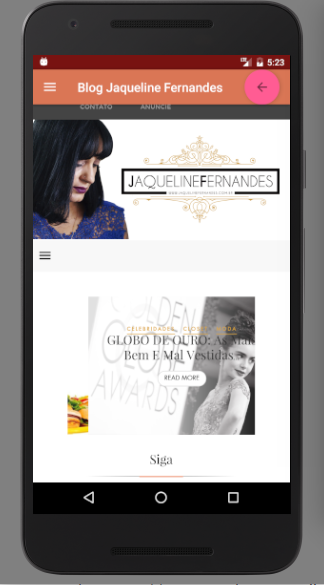 Blog Jaqueline Fernandes- screenshot