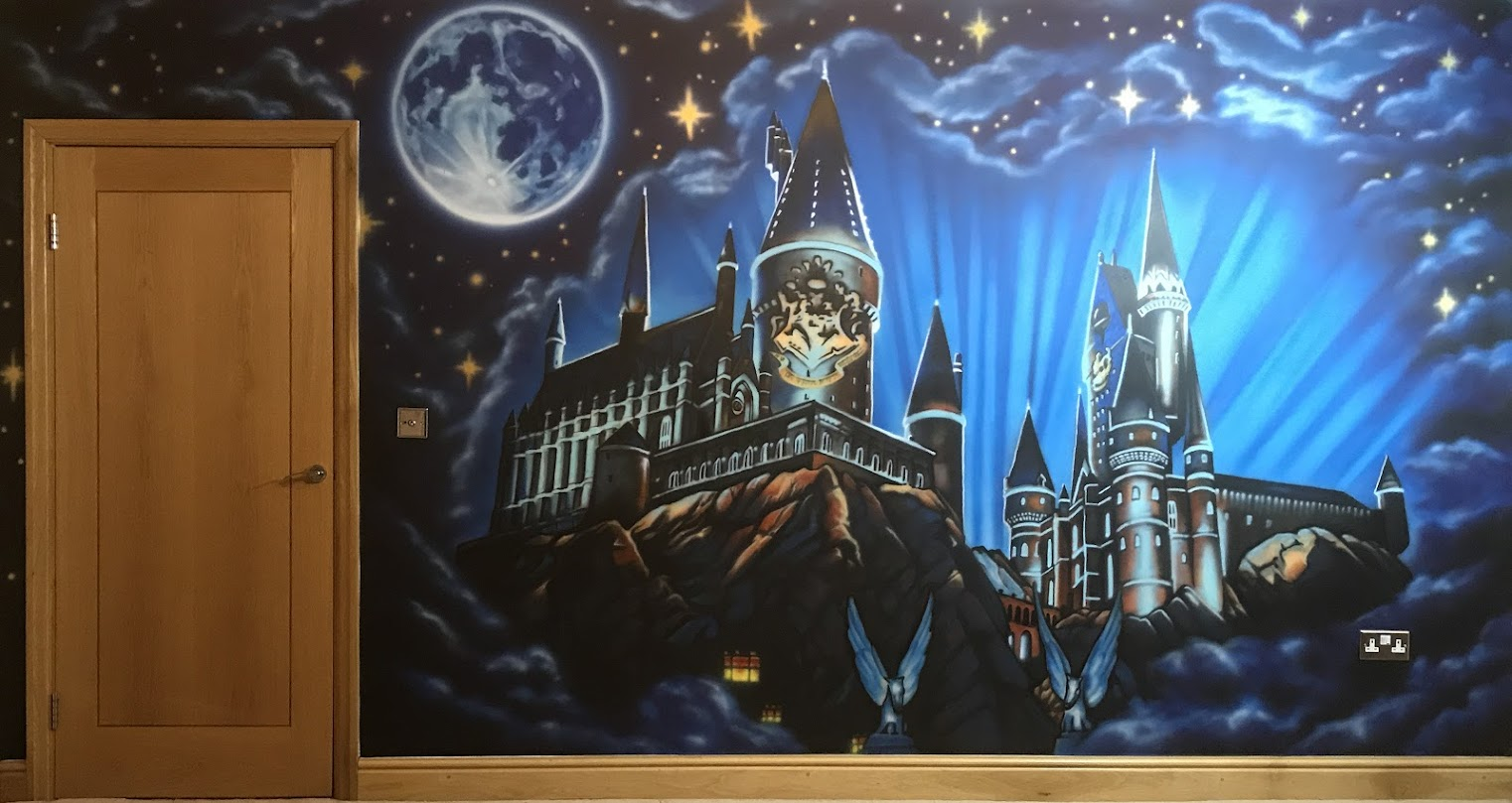 Hogwarts Mural by Adam Pekr Painter on Zealous