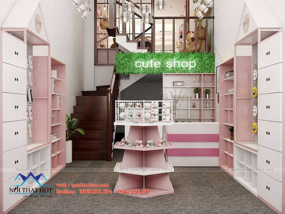 Thiết kế cửa hàng quà lưu niệm đẹp