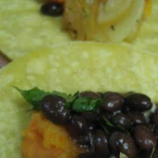 Black Bean, Caramelized Onion & Sweet Potato Enchiladas.