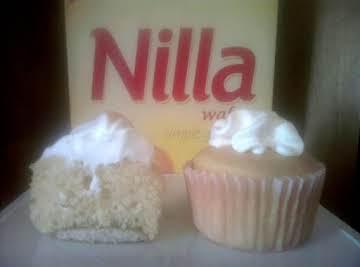 Almost Sugar Free Banana Pudding Cupcakes