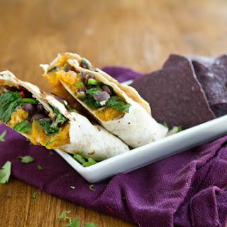 Sweet Potato and Spinach Burrito.