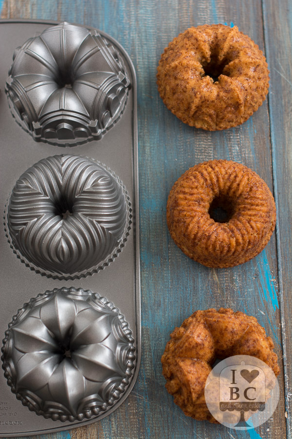 Banana Pineapple Mini Bundt Cakes
