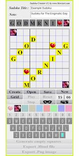 Sudoku Creator - náhled