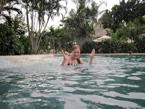 Photo: Doing the crab dance in the Westin pool