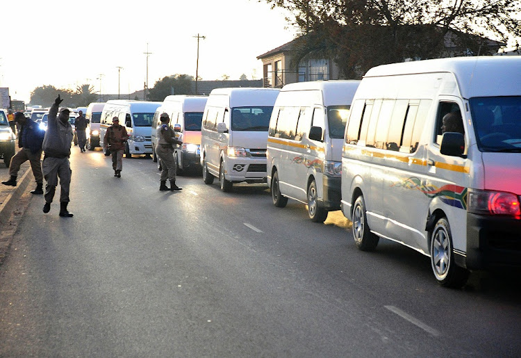 Minibus taxis in Mamelodi Picture: SOWETAN