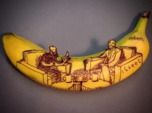25 peças de arte de bananas feitos pelo artista Stephan Brusche