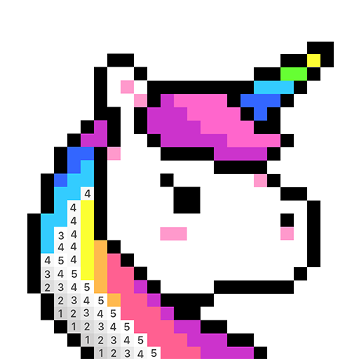 Color by Number, Pixel Color - Pixel Art Icon