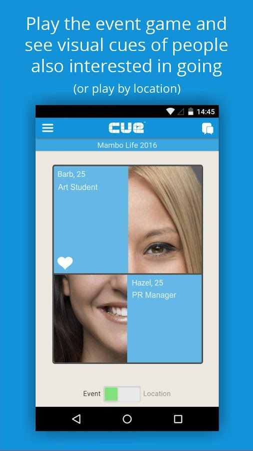 Cue - Social, events & dating- screenshot
