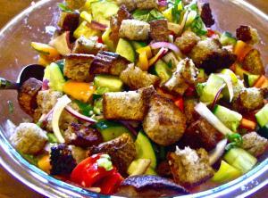 Stuffing Bread Salad Recipe