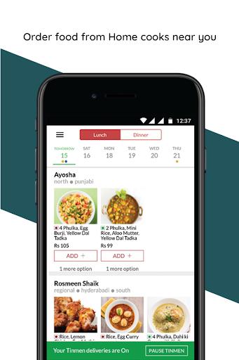 TinMen Homely Food Ordering  screenshots 1